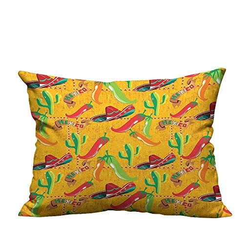 YouXianHome Decorative Throw Pillow Case Cactus Hat Chili