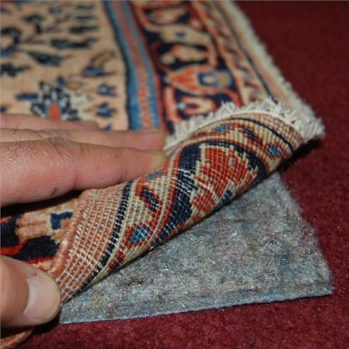 5'x7' No-Muv Non Slip Rug on Carpet Pad - Includes Rug and Pad Care Guide ()