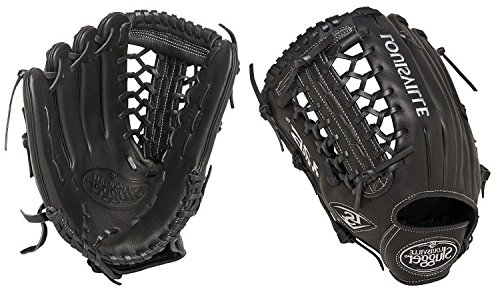 Louisville Slugger 12.75-Inch FG 125 Series Softball Infielders Gloves, Black, Left Hand Throw