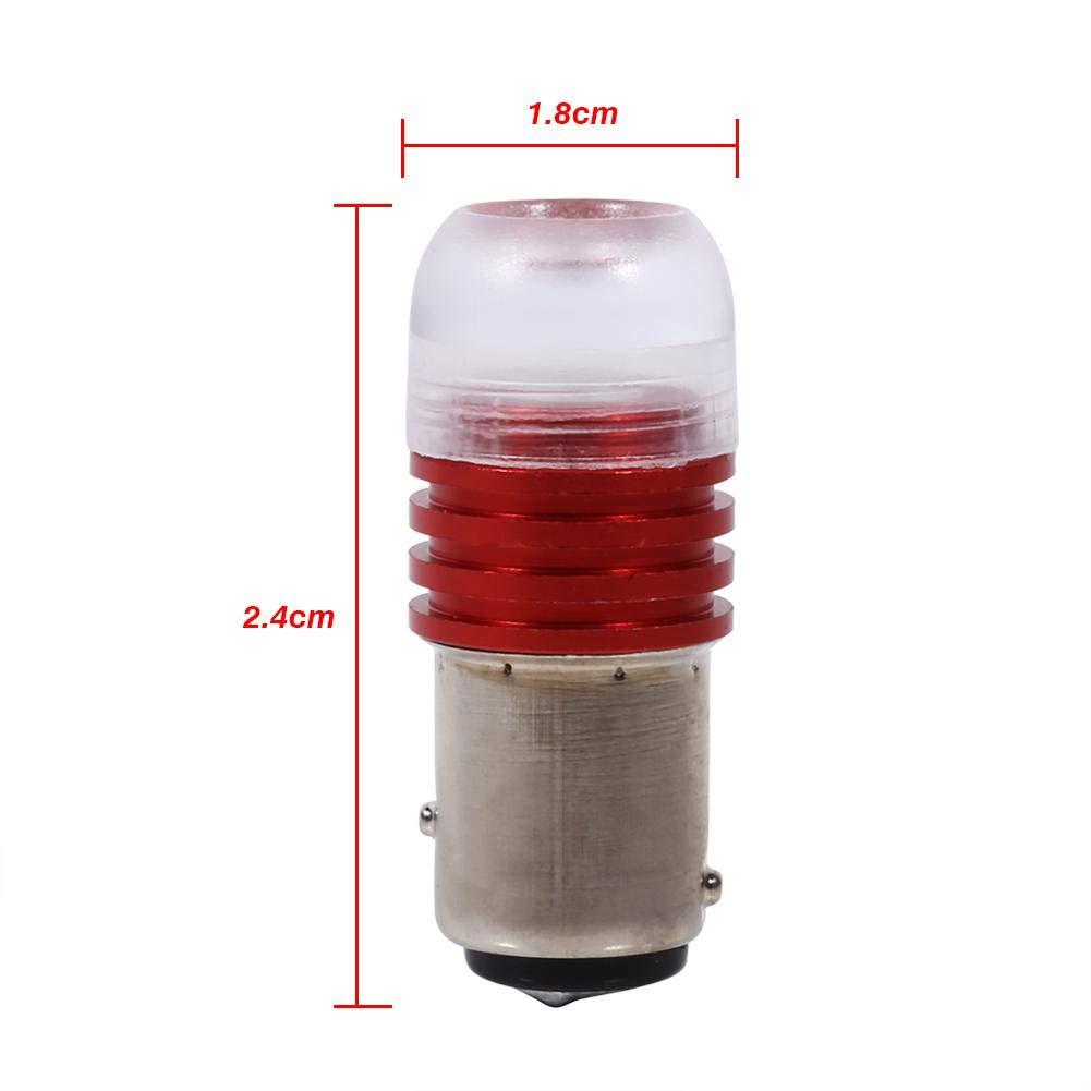 Tail Brake Lights Red 1157 2357 Strobe Flashing LED Projector Bulbs 2Pcs for Car Tail Brake Lights