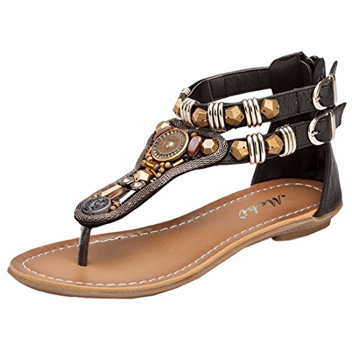 Oasap Summer Thong Sandals Sandalias Elegante con Hebilla para Mujer Caqui
