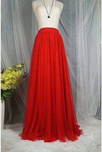 WDDBSQ Falda De Tul/Malla/Gala/Banquete/Fiesta/Vestido/Rosa/Falda ...
