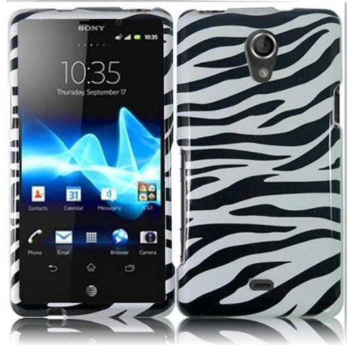 Faceplates Phone Ericsson - Bundle Accessory for AT&T Sony Ericsson Xperia TL LT30at - Zebra Designer Case Protective Cover + Lf Stylus Pen + Lf Screen Wiper