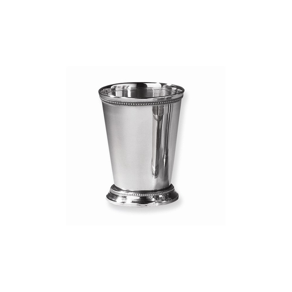 Goldia Nickel-Plated Stainless Steel Beaded Mint Julep Cup - Engravable Gift Item