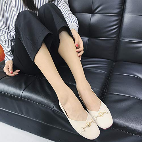 Escarpins Confortable Sandales Wedge Low Slip Beige Jane Chaussures Casual On Mary Rdd1qwpvO