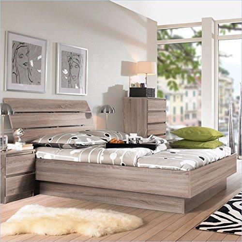 Tvilum Scottsdale 2 PC Full Platform Bed Set in Truffle by Tvilum