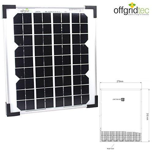 17 opinioni per Offgridtec, Pannello fotovoltaico 10 W, 3-01-001265
