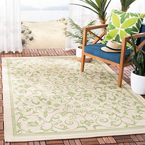 Safavieh Courtyard Collection CY2098-1E01 Natural and Olive Indoor/ Outdoor Area Rug (6'7