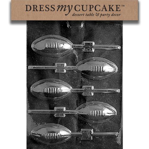 Dress My Cupcake Chocolate Candy Mold, Football Lollipop ()
