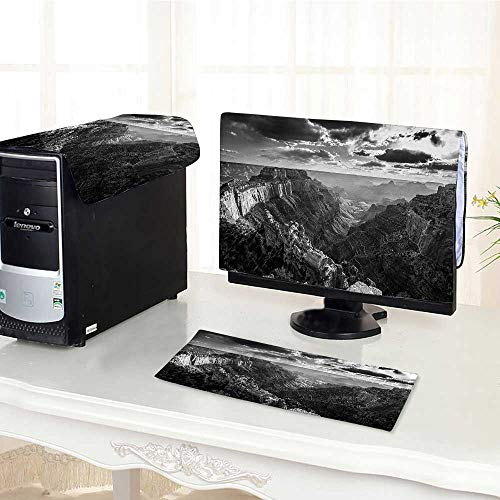 Auraisehome Computer Three-Piece dust Cover Photo of Cape Royal Deep and Long Grand Canyon Gorge North Rim with Protect Your Computer /23
