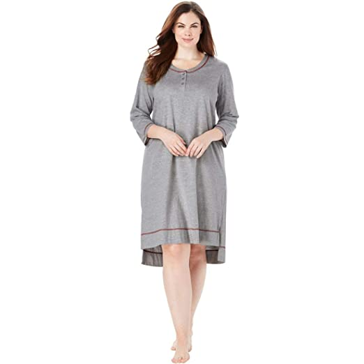 Woman Within Plus Size Scoopneck Sleepshirt at Amazon Women s ... 17ac62cc3