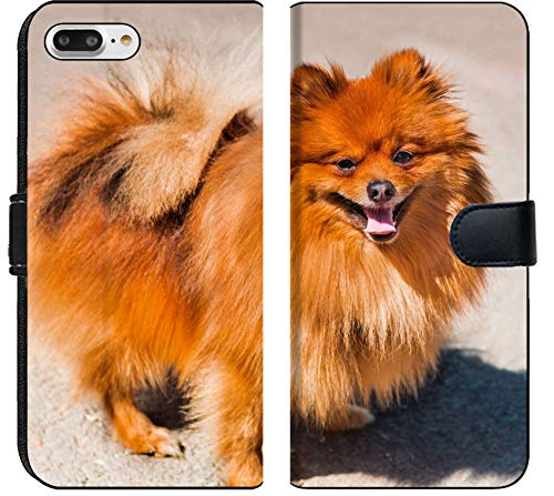 Apple iPhone 7 Plus and iPhone 8 Plus Flip Fabric Wallet Case Pets Animals Dog Pomeranian Image 23970910 Customized Tablemats Stain Resistance Collec