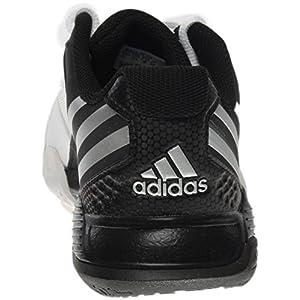 adidas Performance Women's Volley Team 4W Volleyball Shoe, White/Matte Silver/Black, 5 M US