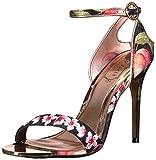 Ted Baker Women's Mirobep Sandal, Peach Blossom Black, 7 B(M) US