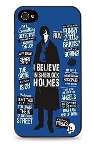Gooddealstreet (TM) 415 Sherlock Holmes Blue - Black Silicone Case for iPhone 5 / 5S