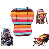 Ancho Baby Stroller/Highchair/Car Seat Cushion Protective Film Breathable Waterproof Pad (Rainbow Stripes)