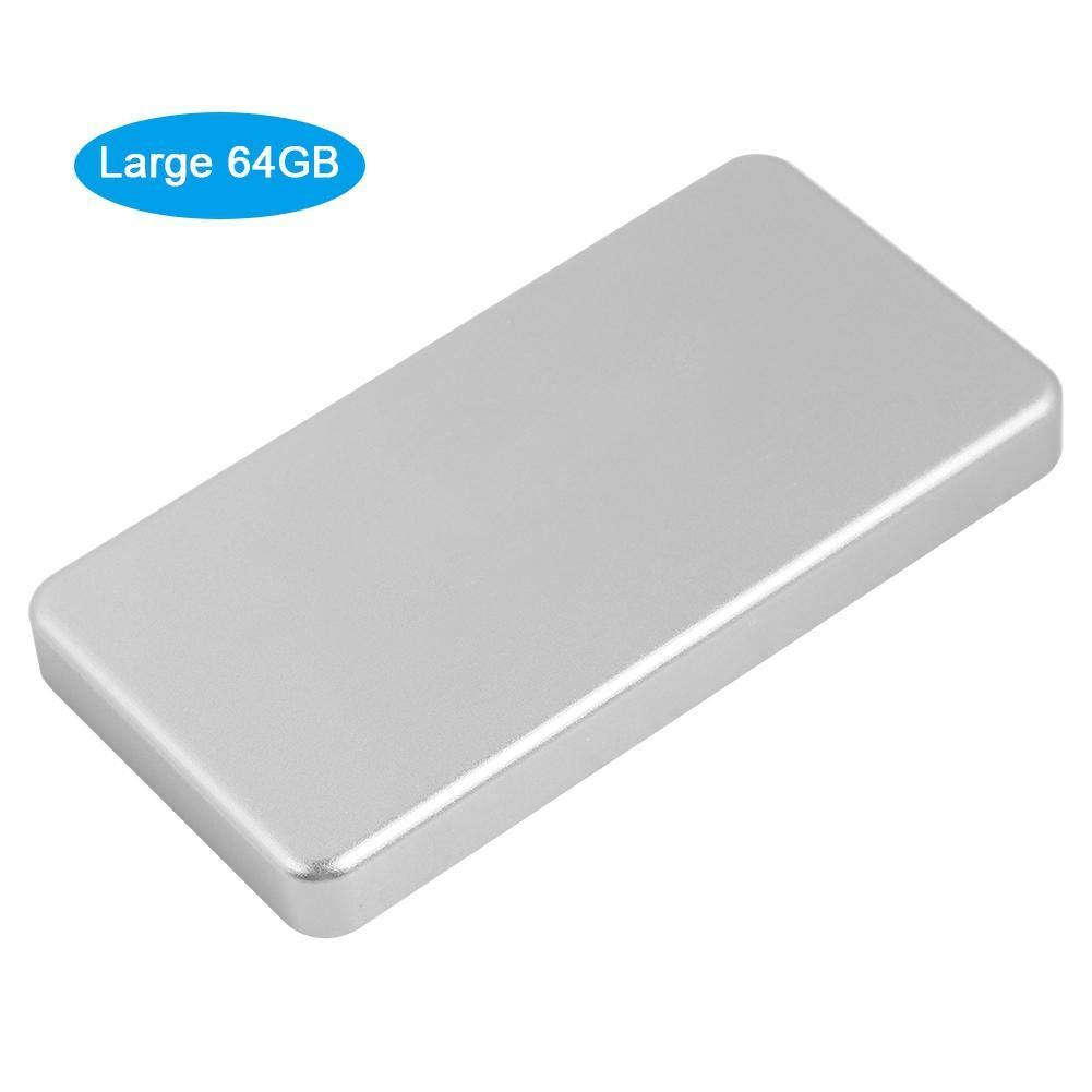Micro USB 3.0 Solid State External Hard Drive Portable Solid State Drive SSD Data Encryption Fast Data Transmission Multi-Level Protection for Windows MAC Desktop Notebook(64GB)