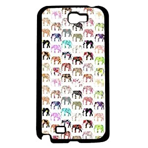 Colorful Floral Print Elephant Pattern Hard Snap on Phone Case (Note 2 II) by lolosakes