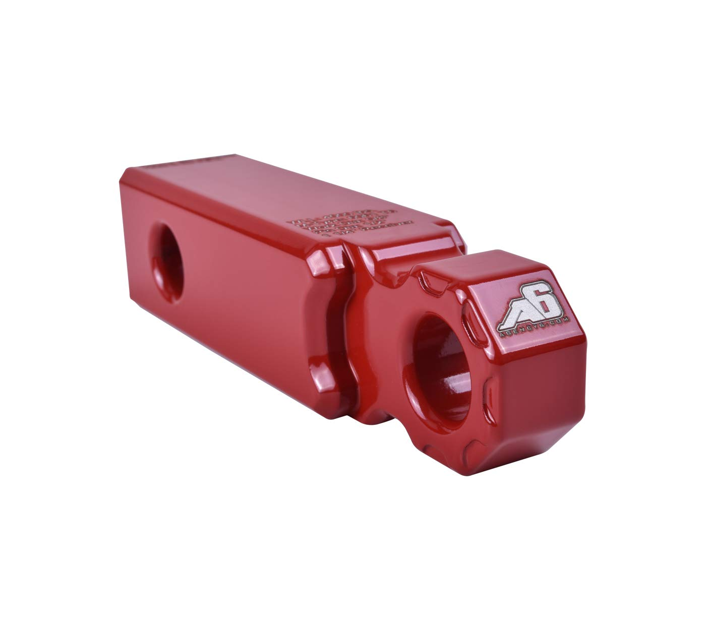 Agency 6 Recovery Shackle Block 1.25'' RED Powder Coat - Hitch Receiver Fits 1.25 inch Hitch receivers HitchLink Recovery Tow Block - Proudly Made in The USA with US Certified Materials by Agency 6