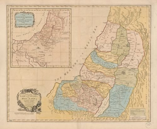 1760 Map A map of the Land of Canaan or Holy Land, as divided among the twelve tribes which God prom