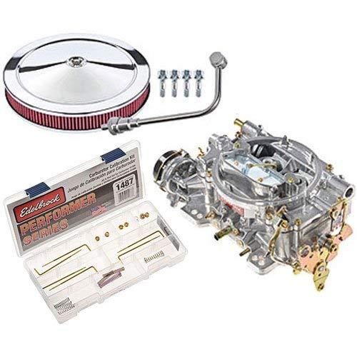(Edelbrock 1406 Performer 600 CFM Square Bore 4-Barrel Air Valve Secondary Electric Choke Carburetor)