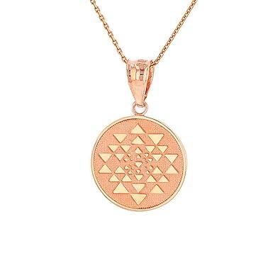 51P0gTTTbYL._UY395_ amazon com 10k rose gold sri yantra chakra sacred geometry talisman