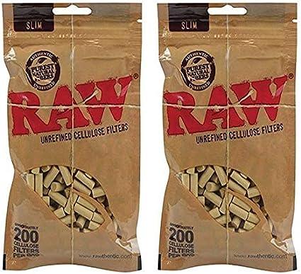 Raw Slim Unrefined Cellulose Filters
