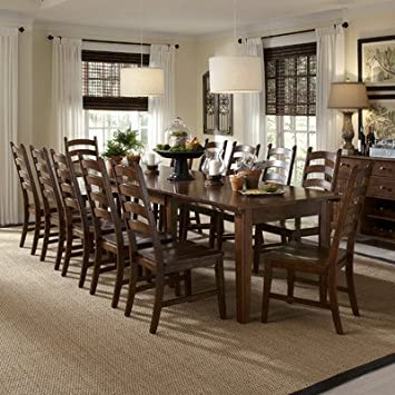 Amazon Com A America Bundle 73 Toluca Dining Set 13 Pieces Table Chair Sets