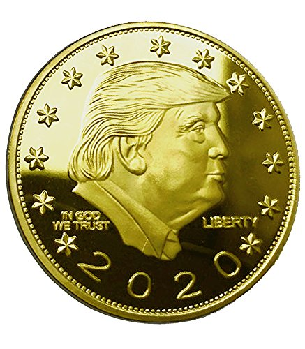 24k Commemorative Coin - DONALD TRUMP KEEP AMERICA GREAT 2020 Gold Coin - 24K Gold Plated Commemorative Collectors Edition. Stunning Proof Coin In Acrylic Capsule. Trump Challenge Coin