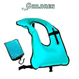 oral inflation valve - Faxpot Children Snorkel Vest Boys & Girls Inflatable Snorkeling Jacket for Diving Swimming Safety (Blue)