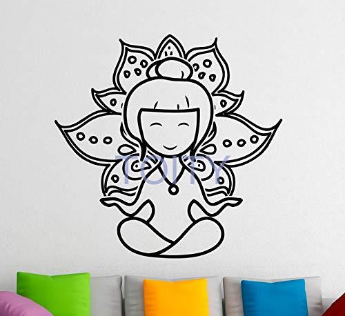 zhuziji Dibujos Animados Yoga Lotus Tatuajes de Pared Vinilo ...