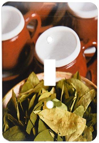 3dRose LLC lsp_86965_1 Peru, Cuzco Coca Leaves and Tea Cups Sa17 Bja0152 Jaynes Gallery Single Toggle - Cuzco Plate