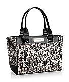 Calvin Klein Logo Jacquard City Shopper Tote Bag Handbag Satchel (Granite)