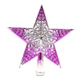 Dreamyth Treetop Christmas Tree Star Topper 20 x 20 cm (Pink)