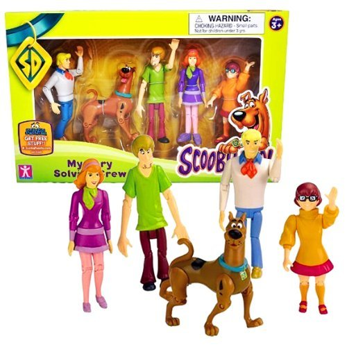 Poseable Action Set Figure - Character Year 2010 Warner Bros Scooby-Doo Cartoon Series 5 Pack Fully Articulated and Poseable Action Figure Set - Mystery Solving Crew with FRED, SCOOBY-DOO, SHAGGY, DAPHNE and VELMA