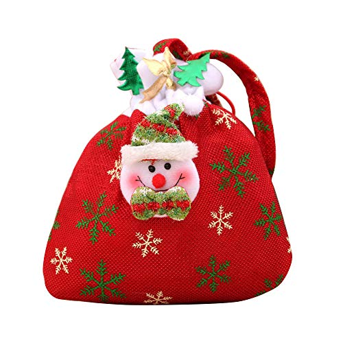 SUJING Christmas Candy Bag Gift Bag for Kids Girls Boys,Christmas Party Favors, Christmas Party Supplies,Christmas Tree Decoration (C)