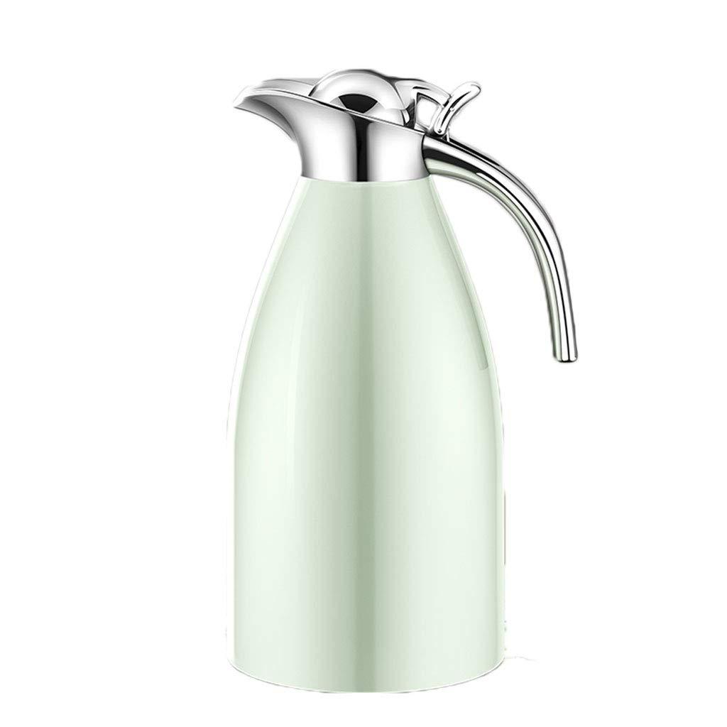 FYCZ Vakuum Isolierkanne, 2L Thermische Karaffe Edelstahl Doppelwand Topf für Kaffee Saft Milch Tee Getränke