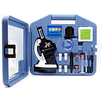 opto-edu a11.1513 Kids Kit de microscopio con brazo de metal y base, de metal, vidrio, plástico: Amazon.es: Amazon.es