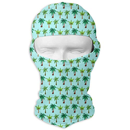 O-X_X-O Balaclava Windproof Ski Face Mask Winter Motorcycle Neck Warmer Balaclava Polyester for Women Men Youth Snowboard Cycling Hat Outdoors Helmet Liner Paradise Palm Tree Mask