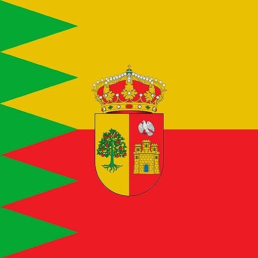 magFlags Bandera Large Municipio de Ibeas de Juarros Burgos, España   1.35m²   120x120cm: Amazon.es: Jardín