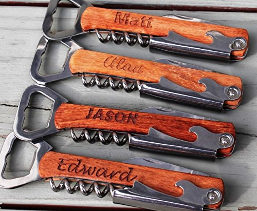 Personalized Corkscrew and Multi-Tool - Free Engraving (Beverage Bottle Opener)
