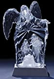 "9"" Icy Crystal Lighted LED Angel/Holy Family Religious Nativity Christmas Figure"