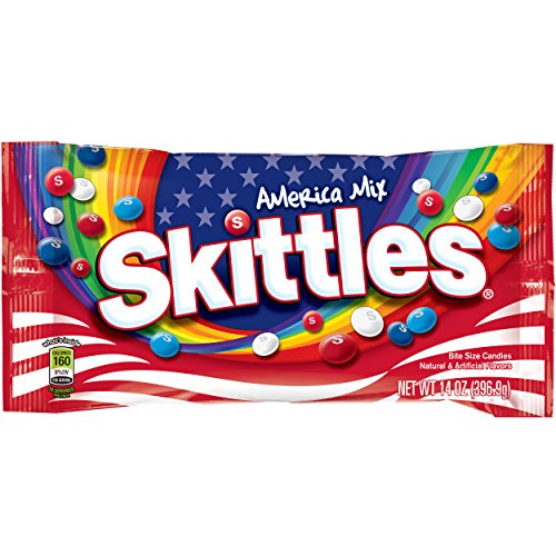SKITTLES America Mix Red, White & Blue Patriotic Candy 14-Ounce Bag ()