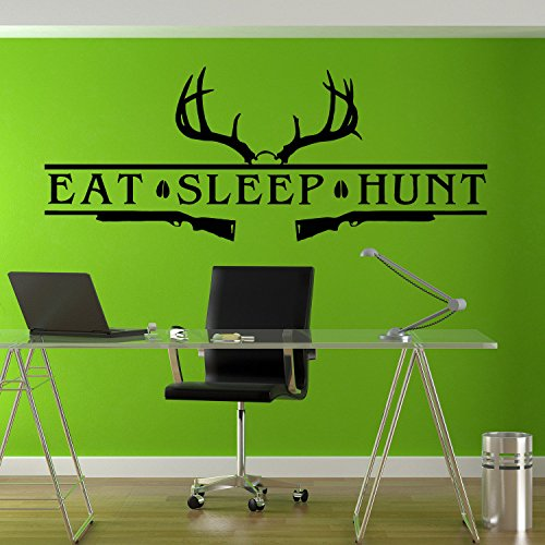 Eat Sleep Hunt Hunting Bow Rifle Deer Art Wall Decals Wall Stickers Tr172