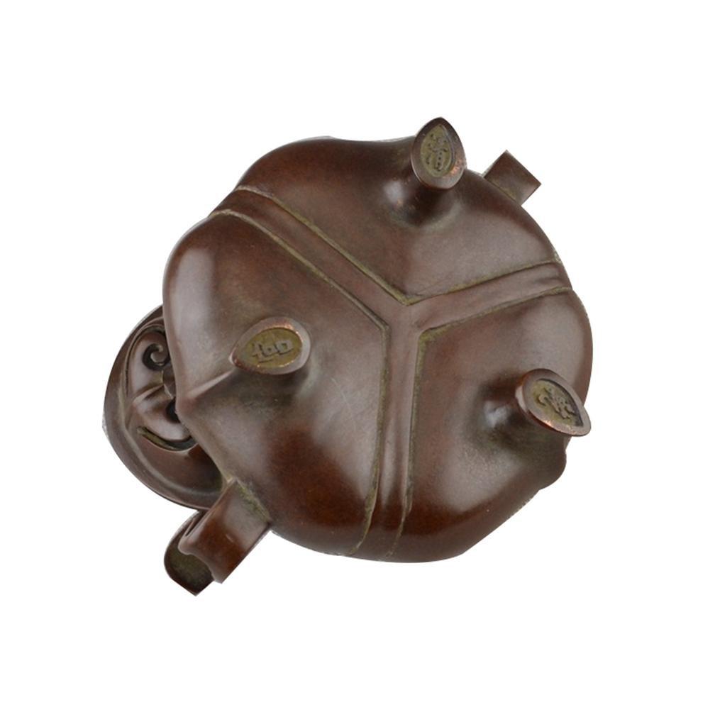 Estufa de cobre artesanía antigua de bronce Varios Colecciones decoración del hogar Adornos Chao Corona del oído quemador de incienso: Amazon.es: Hogar