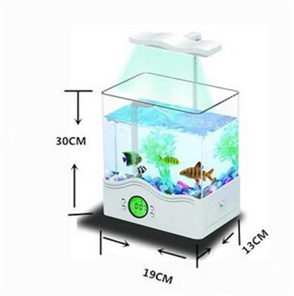 YANFEI 6L Desktop Mini Eco Power Plant interno di illuminazione illuminazione illuminazione acquario trasparente desktop regalo creativo Fish Tank , bianca 01d7f6