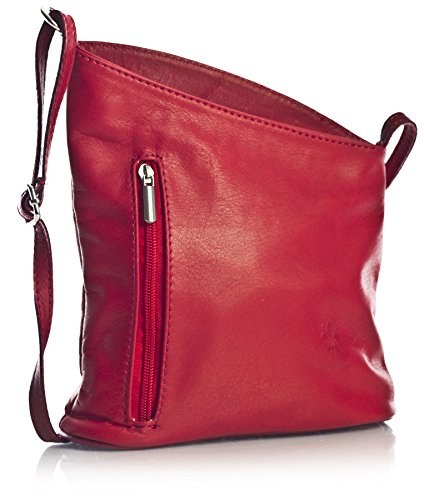 cm Bolso Dama Auténtica para en italiana Venenzi Rojo LxAxP 19x18x6 tipo Piel rojo Pequeño BHBS Bandolera 7E0txwd7q