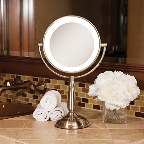 Zadro Satin Nickel Dual Sided Led Lighted Dimmable Touch Vanity Mirror, 12X / 1X Magnification by Zadro (Image #6)