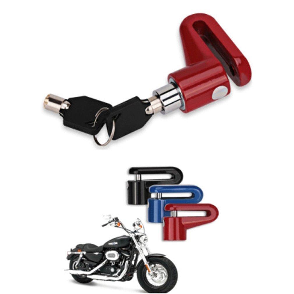 Azul As Description Yinew Candado de Disco para Motocicleta Cerradura de Disco y Llaves de Seguridad