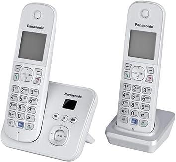 Panasonic KX-TG6822 - Teléfono inalámbrico con 2 microteléfonos (DECT, 30 min, color: Plata, Escritorio, 120 entradas, 103 x 65 Pixeles), [Importado de Alemania] [versión importada]: Panasonic: Amazon.es: Electrónica